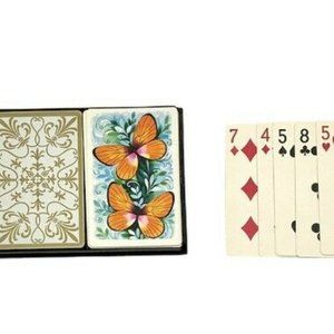 Hallmark Vintage 70's Butterfly Playing Cards